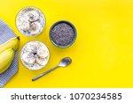 idea for healthy breakfast....   Shutterstock . vector #1070234585