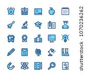 education and school line icons ... | Shutterstock .eps vector #1070236262