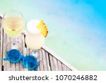 delicious fruit cocktail and... | Shutterstock . vector #1070246882
