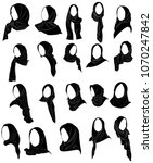 vector silhouette drawing of... | Shutterstock .eps vector #1070247842