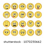 vector emoticons emoji set.... | Shutterstock .eps vector #1070250662