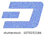 dash currency mosaic of round... | Shutterstock .eps vector #1070252186