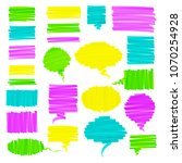 hand drawn highlighter brush... | Shutterstock .eps vector #1070254928