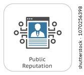 public reputation icon. modern... | Shutterstock .eps vector #1070256398