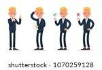 businessman character vector... | Shutterstock .eps vector #1070259128