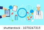 online medicine banner with... | Shutterstock .eps vector #1070267315