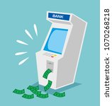 atm machine with a lot of... | Shutterstock .eps vector #1070268218