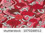 batik painting of west java...   Shutterstock .eps vector #1070268512