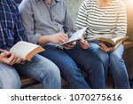 close up of christian group are ... | Shutterstock . vector #1070275616