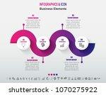 infographic business timeline... | Shutterstock .eps vector #1070275922
