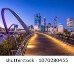 Perth Cbd Skyline At Sunset...