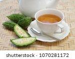 bitter gourd tea with bitter... | Shutterstock . vector #1070281172