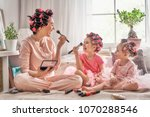 happy loving family. mother and ... | Shutterstock . vector #1070288546