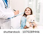 doctor consulting and check up...   Shutterstock . vector #1070289446
