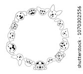 dogs face circle | Shutterstock .eps vector #1070302556