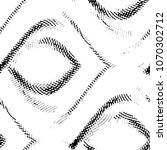 grunge halftone black and white ... | Shutterstock . vector #1070302712