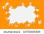 puzzle background  banner ... | Shutterstock .eps vector #1070304305