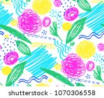 seamless pattern with abstract... | Shutterstock .eps vector #1070306558