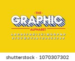 vector of stripy bold font and... | Shutterstock .eps vector #1070307302
