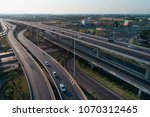 aerial view.  the freeway...   Shutterstock . vector #1070312465