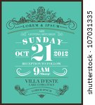save the date wedding... | Shutterstock .eps vector #107031335
