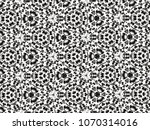 ornament with elements of black ... | Shutterstock . vector #1070314016