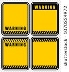 warning  sign  vector | Shutterstock .eps vector #1070324972