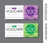 gift voucher template  vector | Shutterstock .eps vector #1070325116