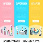 support and information desk... | Shutterstock .eps vector #1070326496