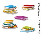 collection of different stacked ... | Shutterstock .eps vector #1070327645