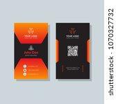 modern business card template... | Shutterstock .eps vector #1070327732