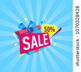 special discount price banner... | Shutterstock .eps vector #1070328428