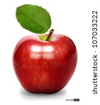 vector red apple isolated | Shutterstock .eps vector #107033222