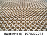 repeated star shaped pattern of ... | Shutterstock . vector #1070332295