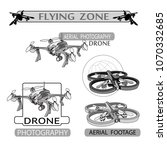 vector set of drone flying club ... | Shutterstock .eps vector #1070332685