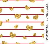 gold heart seamless pattern.... | Shutterstock .eps vector #1070336666