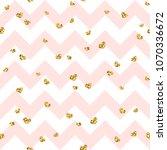 gold heart seamless pattern.... | Shutterstock .eps vector #1070336672