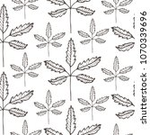 vector seamless pattern of leaf ... | Shutterstock .eps vector #1070339696