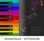 Vector Colorful Piano Keyboard...