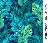 turquoise and green tropical... | Shutterstock .eps vector #1070344892