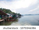 view of fishing village near... | Shutterstock . vector #1070346386