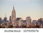 new york city manhattan skyline ... | Shutterstock . vector #107035076