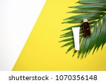 mockup of cosmetic cream bottle ... | Shutterstock . vector #1070356148
