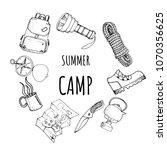 hand drawn frame card template...   Shutterstock .eps vector #1070356625