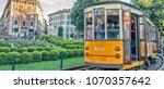 milan   sep 25  historic tram... | Shutterstock . vector #1070357642