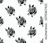 rock and roll seamless pattern... | Shutterstock .eps vector #1070367422