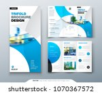 tri fold brochure design with... | Shutterstock .eps vector #1070367572
