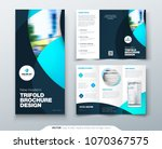 tri fold brochure design with... | Shutterstock .eps vector #1070367575