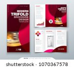 tri fold brochure design with... | Shutterstock .eps vector #1070367578