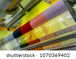 weaving loom at a textile... | Shutterstock . vector #1070369402